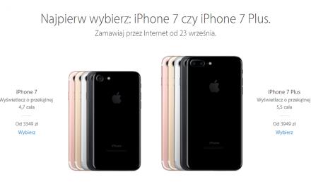 Przedsprzedaż iPhone 7 w Polsce od 23 września – AKTUALIZACJA