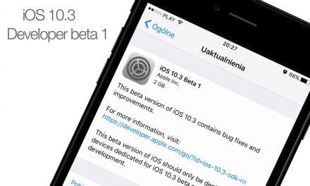 iOS 10.3 beta 1 dostępna dla developerów