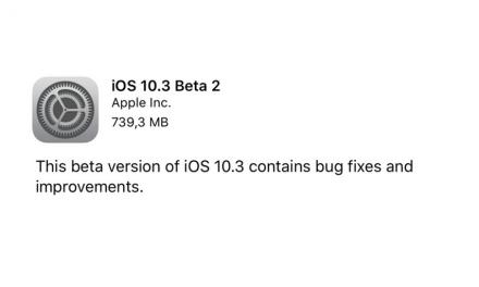 iOS 10.3 beta 2 dostępna dla developerów