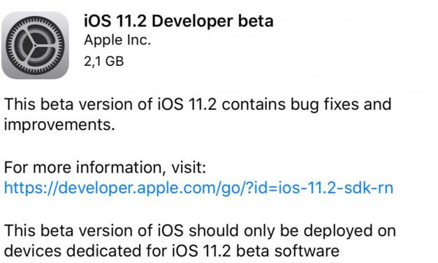 iOS 11.2 developer beta 1