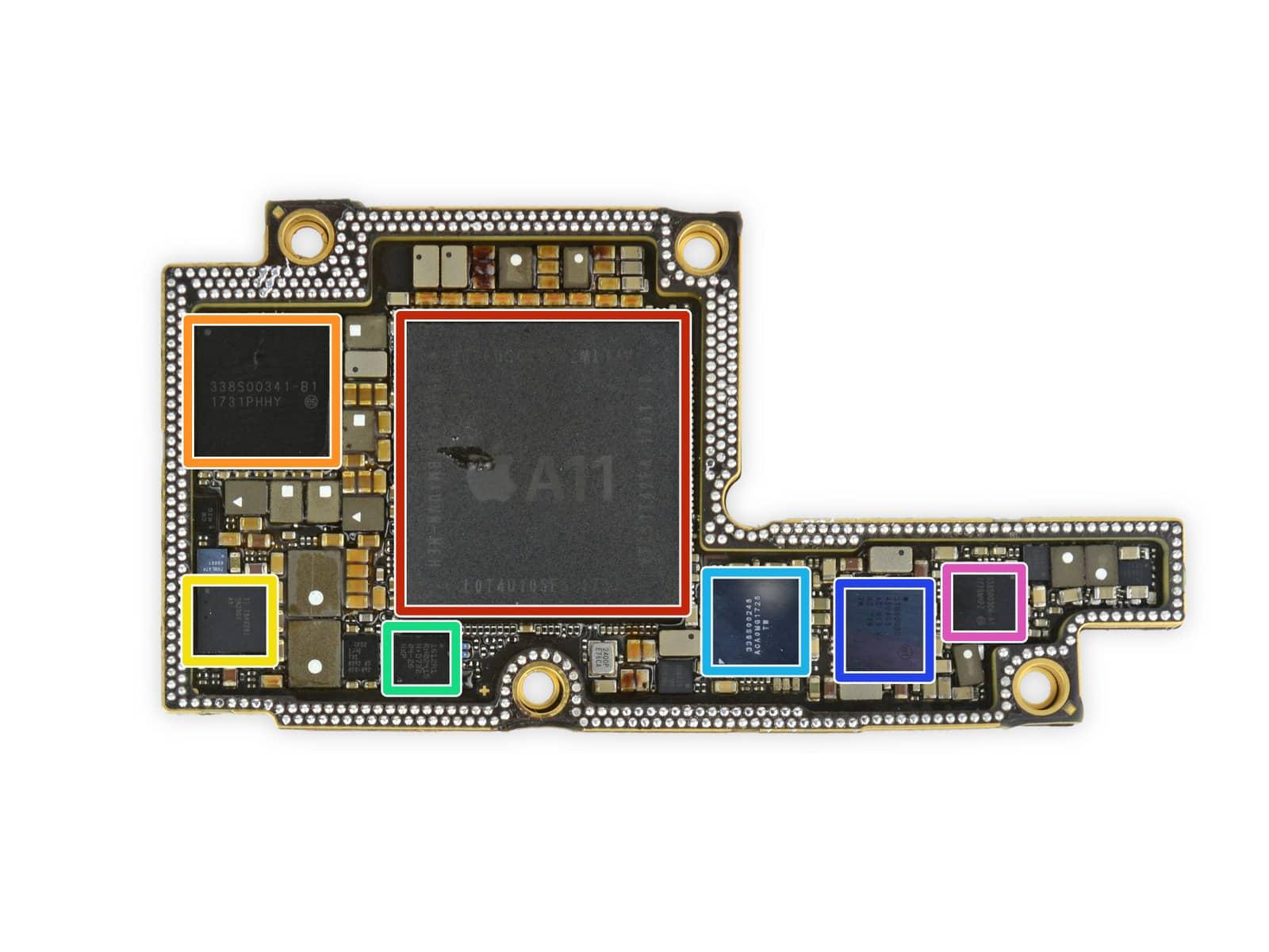 iPhone X rozebrany na czesci przez iFixit 2