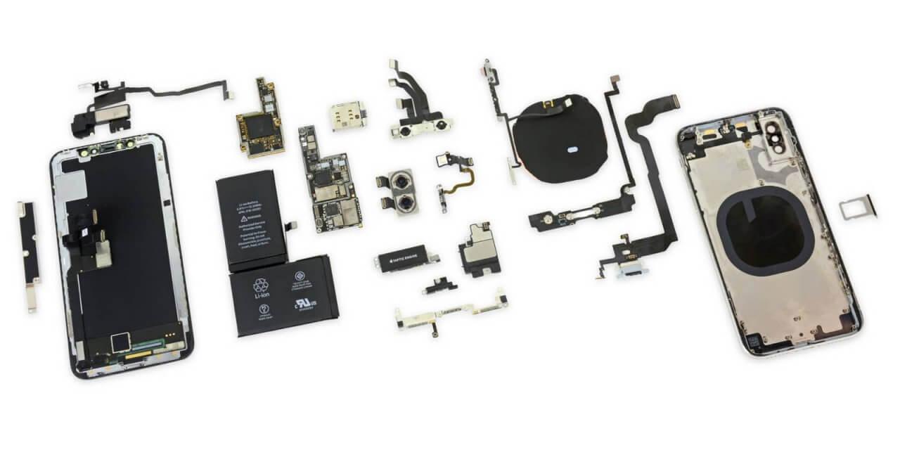 iPhone X rozebrany na części przez iFixit