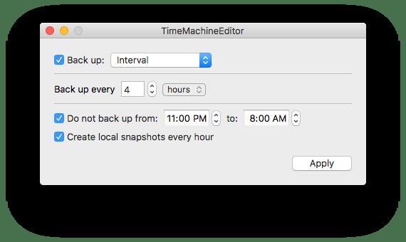 TimeMachineEditor interval